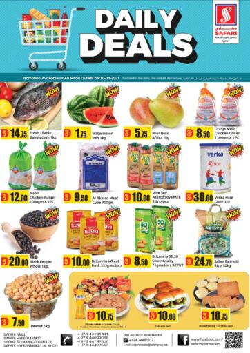 Qatar - Al Wakra Safari Hypermarket offers in D4D Online. Daily Deals. . Only on 30th March