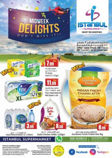 UAE - Dubai Istanbul Supermarket offers in D4D Online. Midweek Delights. . Till 9th February