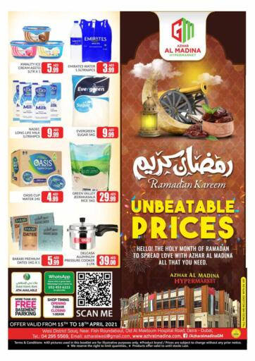 UAE - Dubai Azhar Al Madina Hypermarket offers in D4D Online. Unbeatable Prices. . Till 18th April