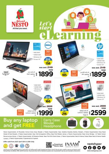 UAE - Dubai Nesto Hypermarket offers in D4D Online. Let's Start E-Learning. Let's Start E-Learning With Nesto Hypermarket. Check Out Before 20th April 2021. Enjoy Shopping. Till 20th April