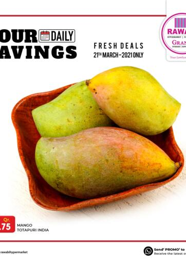 Qatar - Al Wakra Rawabi Hypermarkets offers in D4D Online. Fresh Deals. . Only On 21st March