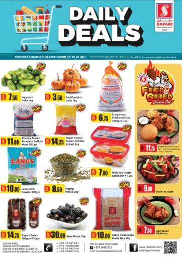 Qatar - Al Wakra Safari Hypermarket offers in D4D Online. Daily Deals. . Only On 20th March