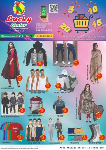 UAE - Sharjah / Ajman Lucky Center offers in D4D Online. 5 10 15 20 DHS Offers. . Till 17th January