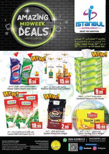 UAE - Dubai Istanbul Supermarket offers in D4D Online. Amazing Midweek Deals. . Till 23rd February