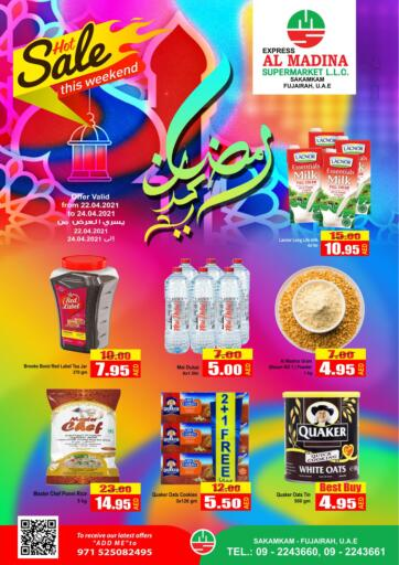 UAE - Fujairah Al Madina Supermarket LLC offers in D4D Online. Hot Sale This Weekend. . Till 24th April
