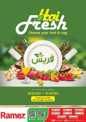 Oman - Sohar Ramez  offers in D4D Online. Muladdha - Hai Fresh. . Till 2nd October