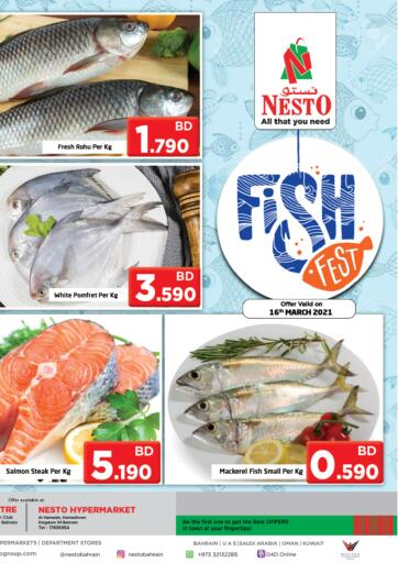 Bahrain NESTO  offers in D4D Online. Fish Fest. . Only On 16th March