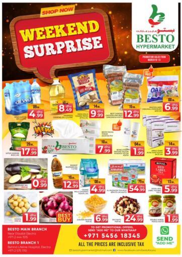 UAE - Abu Dhabi Besto Hypermarket offers in D4D Online. Weekend Surprises. . Till 13th March