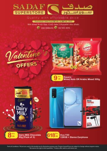 UAE - Abu Dhabi Sadaf Superstore offers in D4D Online. Valentine Offers.
