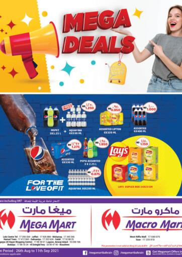 Bahrain MegaMart & Macro Mart  offers in D4D Online. Mega Deals. Mega Deals at MegaMart & Macro Mart !  Offers on Groceries,Home appliances,Stationery,Clothes much more are valid Till 11th September Get it Now!! Enjoy Shopping!. Till 11th September