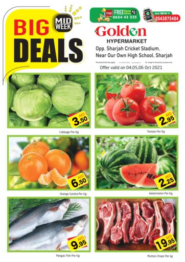UAE - Sharjah / Ajman Golden Hypermarket offers in D4D Online. Midweek Big Deals. Check Out The Midweek Big Deals Available At Golden Hypermarket. Offer Valid Till 06th October 2021.  Enjoy Shopping!!!. Till 06th October