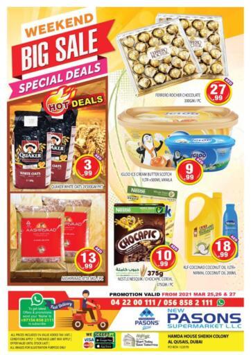 UAE - Dubai Pasons Supermarkets & Hypermarkets offers in D4D Online. Al Qusais - Weekend Big Sale. . Till 27th March