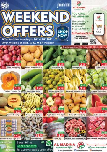 UAE - Abu Dhabi Al Madina Hypermarket offers in D4D Online. Weekend Offers @ ICAD, M17, M37, Hameem. . Till 28th August