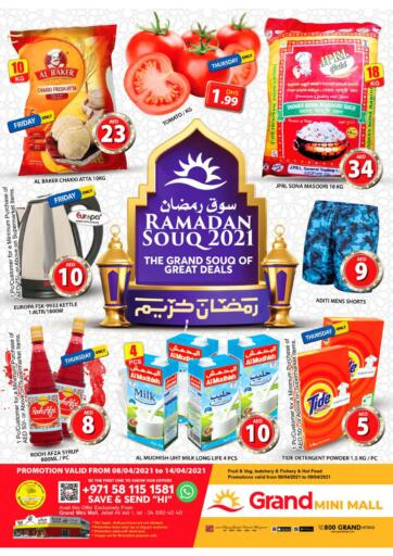 UAE - Dubai Grand Hyper Market offers in D4D Online. Mini Mall - Dubai. Buy More With Less Price From Grand Hypermarket Before 14th April 2021. Enjoy Shopping!!!. Till 14th April