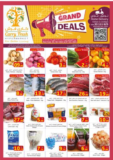 Qatar - Umm Salal Carry Fresh Hypermarket offers in D4D Online. Grand Deals. Now get this  Grand Deals Offers on all products from Carry Fresh Hypermarket. hurry now. offer valid Till  7th April. Enjoy Shopping!!!. Till 7th April