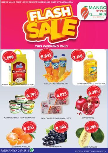 Kuwait Mango Hypermarket  offers in D4D Online. Flash Sale. . Only On 19th September