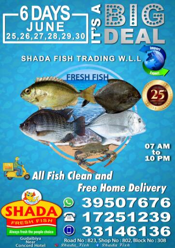 Bahrain Shada Fish offers in D4D Online. It's A Big Deal. Its A Big Deal @ Shada Fish! Get Your Products at Cheapest Price.. Offer Valid Till  06th July. . Till 06th July