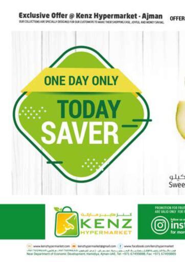 UAE - Sharjah / Ajman Kenz Hypermarket offers in D4D Online. Today Saver. . Only On 6th October