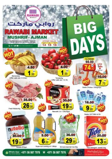 UAE - Sharjah / Ajman Rawabi Market Ajman offers in D4D Online. Mushrif - Big Days. . Till 16th January