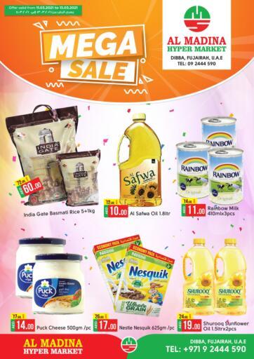 UAE - Fujairah Al Madina Supermarket LLC offers in D4D Online. Mega Sale. . Till 13th March