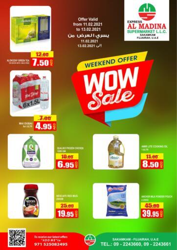 UAE - Fujairah Al Madina Supermarket LLC offers in D4D Online. Weekend Offer @ Sakamkam. . Till 13th February
