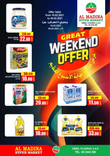 UAE - Fujairah Al Madina Supermarket LLC offers in D4D Online. Great Weekend Offer. . Till 20th February