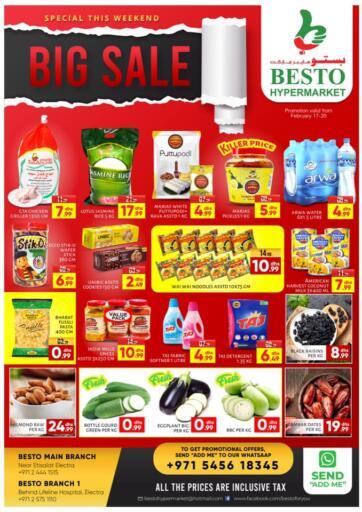 UAE - Abu Dhabi Besto Hypermarket offers in D4D Online. Big Sale. . Till 20th February