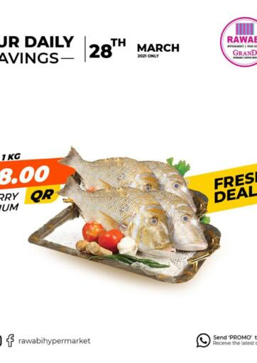 Qatar - Al Wakra Rawabi Hypermarkets offers in D4D Online. Fresh Deals. . Only On 28th March