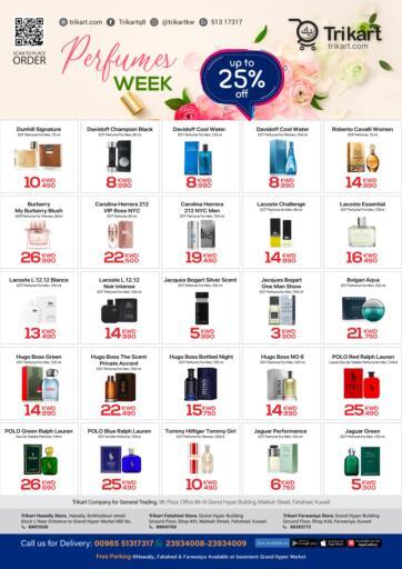 Kuwait Trikart offers in D4D Online. Perfumes Week. . Till 31st July