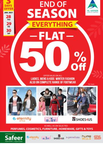 UAE - Abu Dhabi Safeer Hyper Markets offers in D4D Online. End Of Season. . Till 30th January
