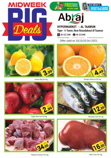 UAE - Sharjah / Ajman Abraj Hypermarket offers in D4D Online. Midweek Big Deals @ Taawun. . Till 20th October