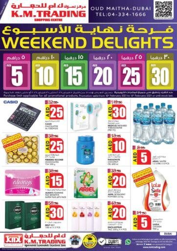 UAE - Dubai K M Trading  offers in D4D Online. Weekend Delights!. . Till 16th February