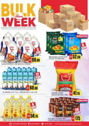 Qatar - Al Wakra Grand Hypermarket offers in D4D Online. Bulk Week. Bulk Week Offers Are Available At Grand Hypermarket. Offers Are Valid Till 24th March . Enjoy!!. Till 24th March
