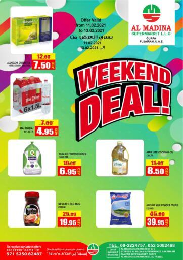 UAE - Fujairah Al Madina Supermarket LLC offers in D4D Online. Weekend Deal!. . Till 13th February