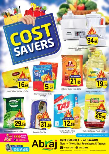 UAE - Sharjah / Ajman Abraj Hypermarket offers in D4D Online. Cost Savers @Al Taawun. . Till 2nd October
