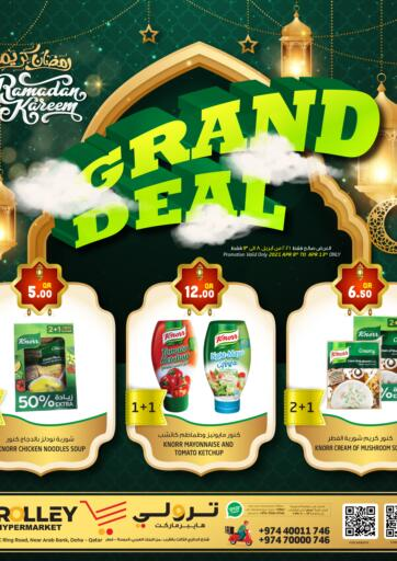 Qatar - Umm Salal Trolley Hypermarket offers in D4D Online. Grand Deal. . Till 13th April