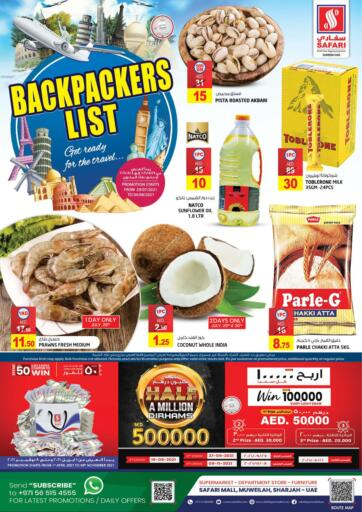 UAE - Sharjah / Ajman Safari Hypermarket  offers in D4D Online. Backpackers List. . Till 4th August