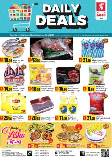 Qatar - Al Wakra Safari Hypermarket offers in D4D Online. Daily Deals. . Only On 14 April