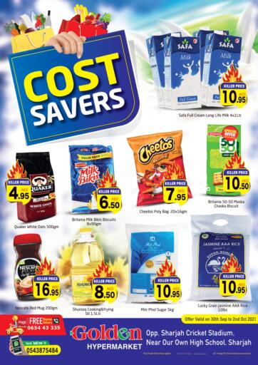 UAE - Sharjah / Ajman Golden Hypermarket offers in D4D Online. Cost Savers. Check Out The Cost Savers Available At Golden Hypermarket. Offer Valid Till 02nd October 2021.  Enjoy Shopping!!!. Till 2nd October