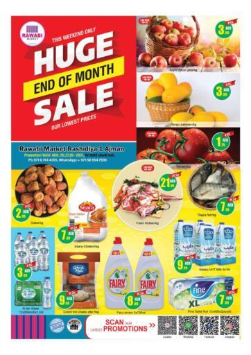 UAE - Sharjah / Ajman Rawabi Market Ajman offers in D4D Online. Huge End Of Month Sale - Rashidiya. Huge End Of Month Sale Now From Rawabi Market. Offer Valid Till 28th August 2021.  Enjoy Shopping!!!. Till 28th August