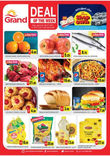 Qatar - Al-Shahaniya Grand Hypermarket offers in D4D Online. Deal Of The Week. Deal Of The Week  Offers Are Available At Grand Hypermarket. Offers Are Valid Till   10th July . Enjoy!!. Till 10th July
