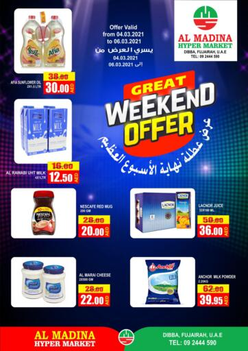 UAE - Fujairah Al Madina Supermarket LLC offers in D4D Online. Great Weekend Offer.