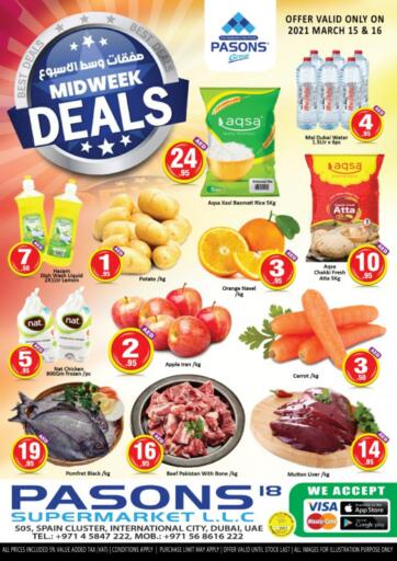 UAE - Dubai Pasons Supermarkets & Hypermarkets offers in D4D Online. Midweek Deals. . Till 16th March