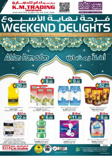 UAE - Dubai K M Trading  offers in D4D Online. Weekend Delights!. . Till 20th April