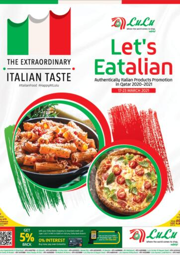 Qatar - Al Daayen LuLu Hypermarket offers in D4D Online. Let's Eatalian. Get your favorites on Let's Eatalian offers from the Lulu Hypermarket . Take advantage of this offer .Offers Are Valid Till 23rd March. Happy Shopping!. Till 23rd March