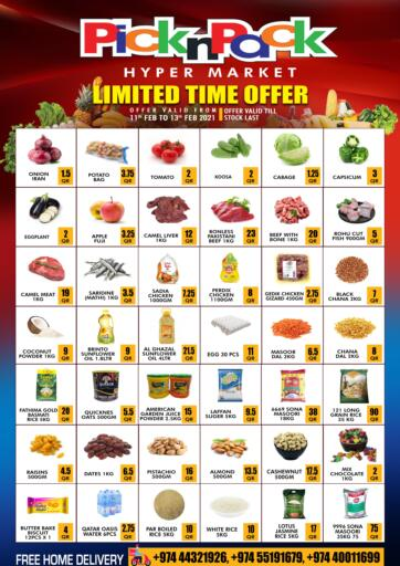 Qatar - Doha Pick n Pack offers in D4D Online. Limited Time Offer!. Limited Time Offer! Are Available At Pick n Pack. Offers Are Valid Till 13th February0 Enjoy Shopping!!. Till 13th February