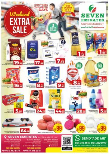 UAE - Abu Dhabi Seven Emirates Supermarket offers in D4D Online. Weekend Extra Sale. . Till 18th September