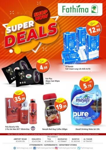 UAE - Abu Dhabi Fathima Hypermarkets & Supermarkets offers in D4D Online. Super Deals. . Until Stock Last