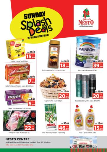 UAE - Ras al Khaimah Nesto Hypermarket offers in D4D Online. Ras Al Khaima. Visit Your Nearest Nesto Hypermarket And Get Everything At Exciting Offers Before 31st March 2021.  Enjoy Shopping!!!. Only On 28th March