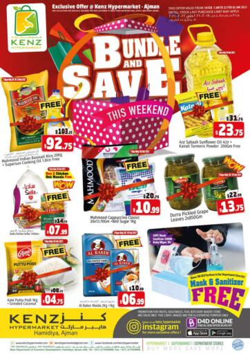 UAE - Sharjah / Ajman Kenz Hypermarket offers in D4D Online. Bundles And Save This Weekend. Bundles And Save This Weekend!!! Offers Going On For  Fresh Foods, Groceries, Home Needs, Fashion, Electronics, Appliances & Many More. Get your favorite products at the best prices from Kenz Hypermarket. Buy More Save More! .  Offer Valid Till 21st February 2021. Happy Shopping!!!. Start Shopping!!!! . Till 21st February